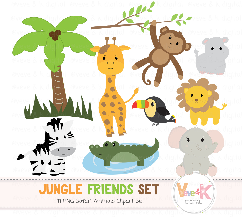 Animals clipart jungle. Safari clip art african