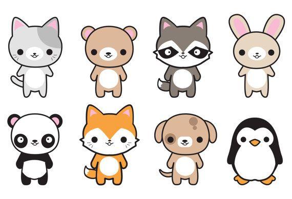 Animals clipart kawaii. Premium vector cute cat