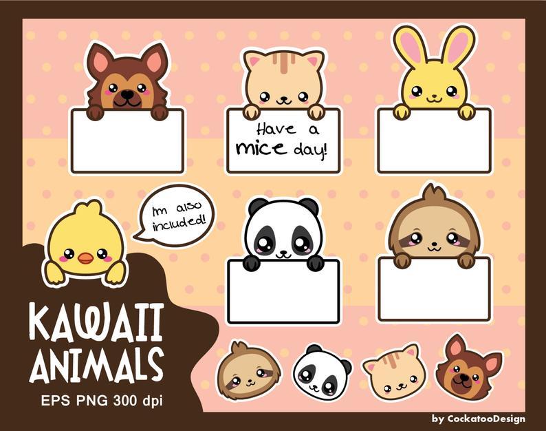 Cute dog message box. Animals clipart kawaii