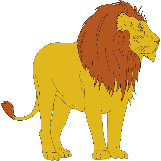 Free and animations male. Animals clipart lion
