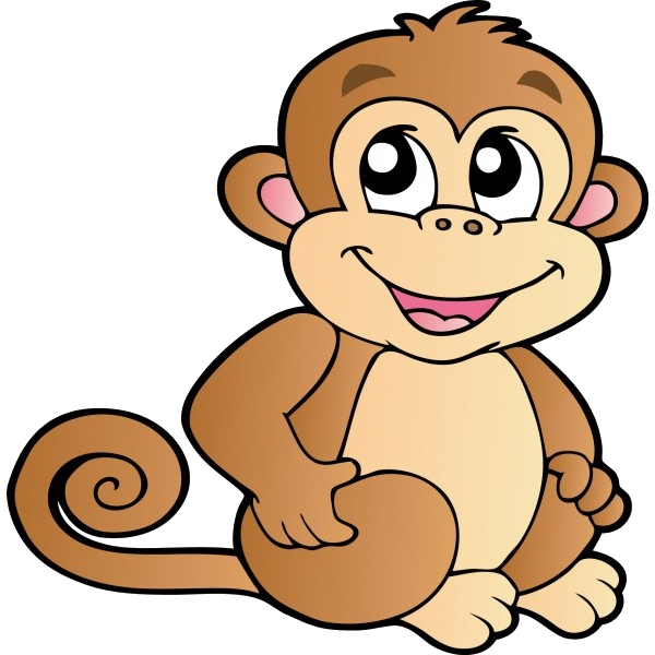 Hamster clipart transparent background. Funny baby monkeys cartoon