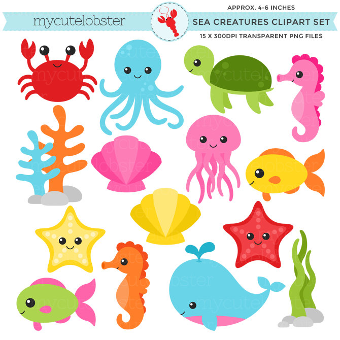 Animals clipart ocean. Free marine cliparts download