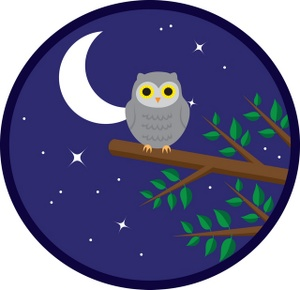 Night clipart all. Free owl clip art