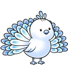 Animals clipart peacock. Cute cartoon baby stock