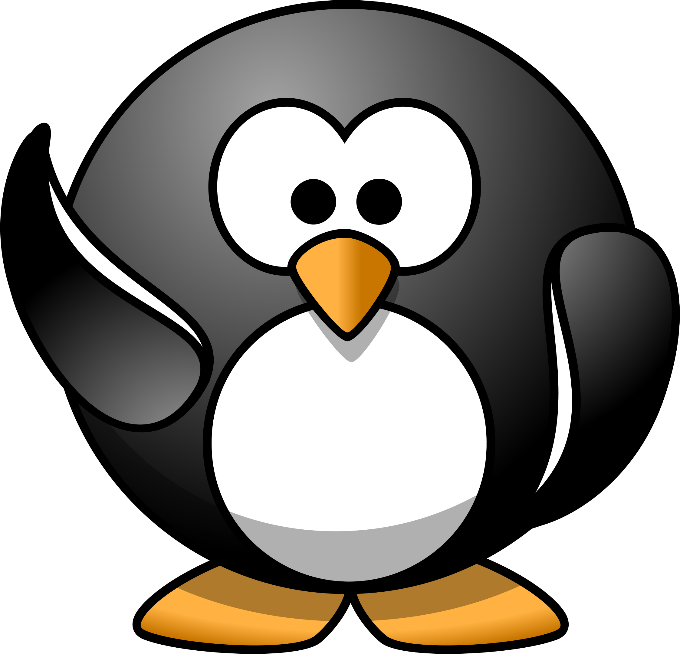 Waving penguin. Waves clipart cartoon clip art