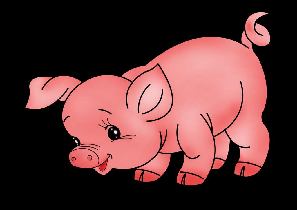 Animals clipart pig. Glbcksschweine set talak tott