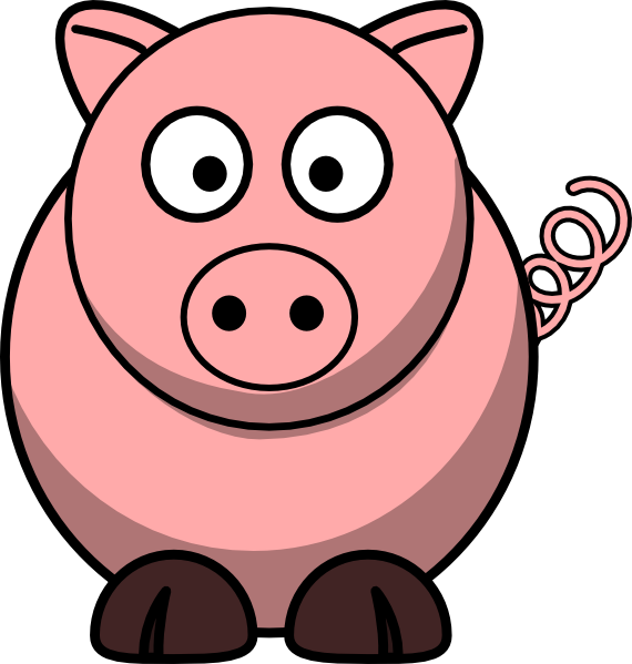 Animals clipart pig. Cartoon free piggie bank