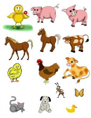 Animals clipart printable. Farm