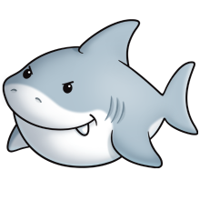 Animals clipart shark. Great white fluff favourites