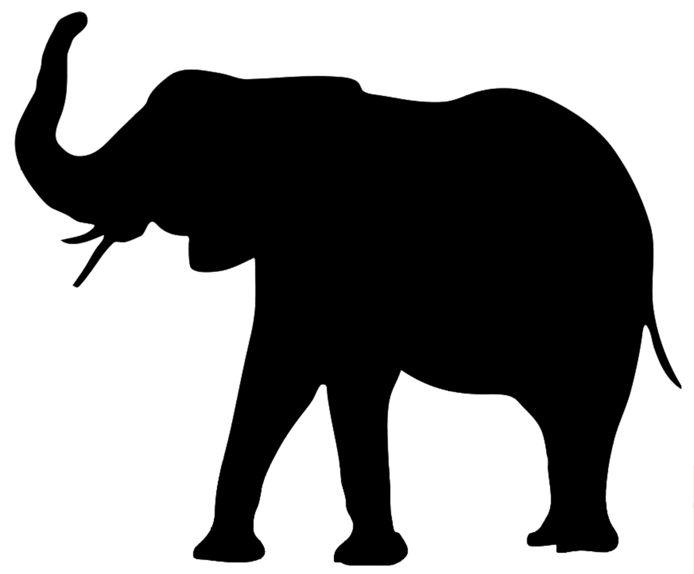 Animals clipart silhouette. Animal clip art elephant