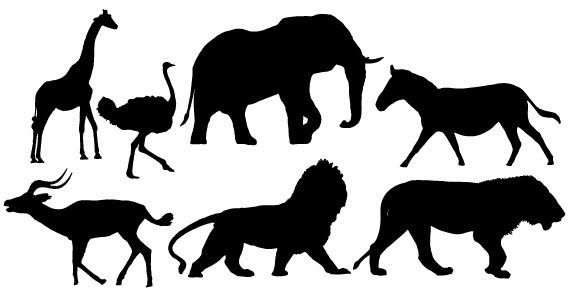 Free download clip art. Animals clipart silhouette