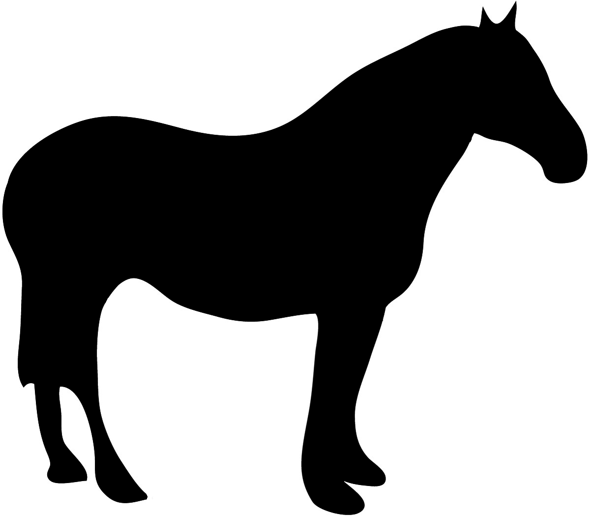 Clip art horse moose. Animal clipart silhouette