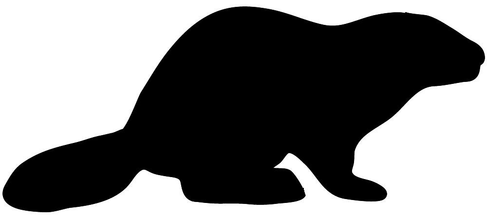 Clip art beaver of. Animal clipart silhouette