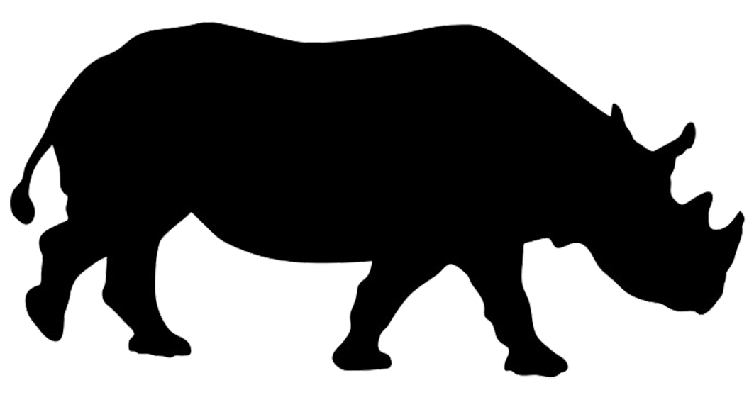 Clipart hippo zoo animal. Silhouette clip art rhinoceros