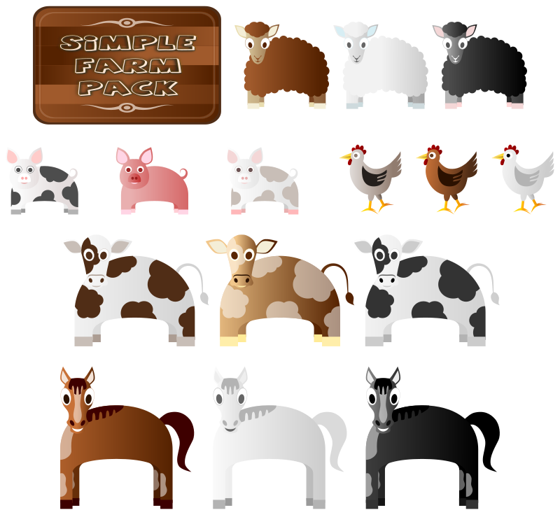 Farm medium image png. Animals clipart simple