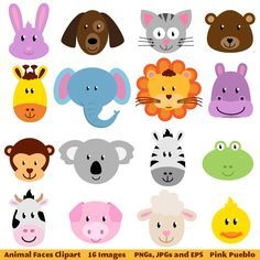 Classroom door zoo theme. Animals clipart simple