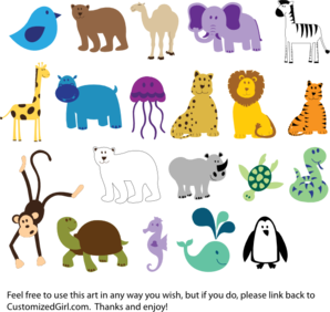 Simple Animal Clipart