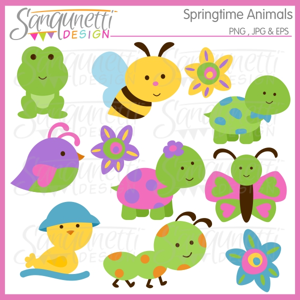 Animals clipart spring. Sanqunetti design animal