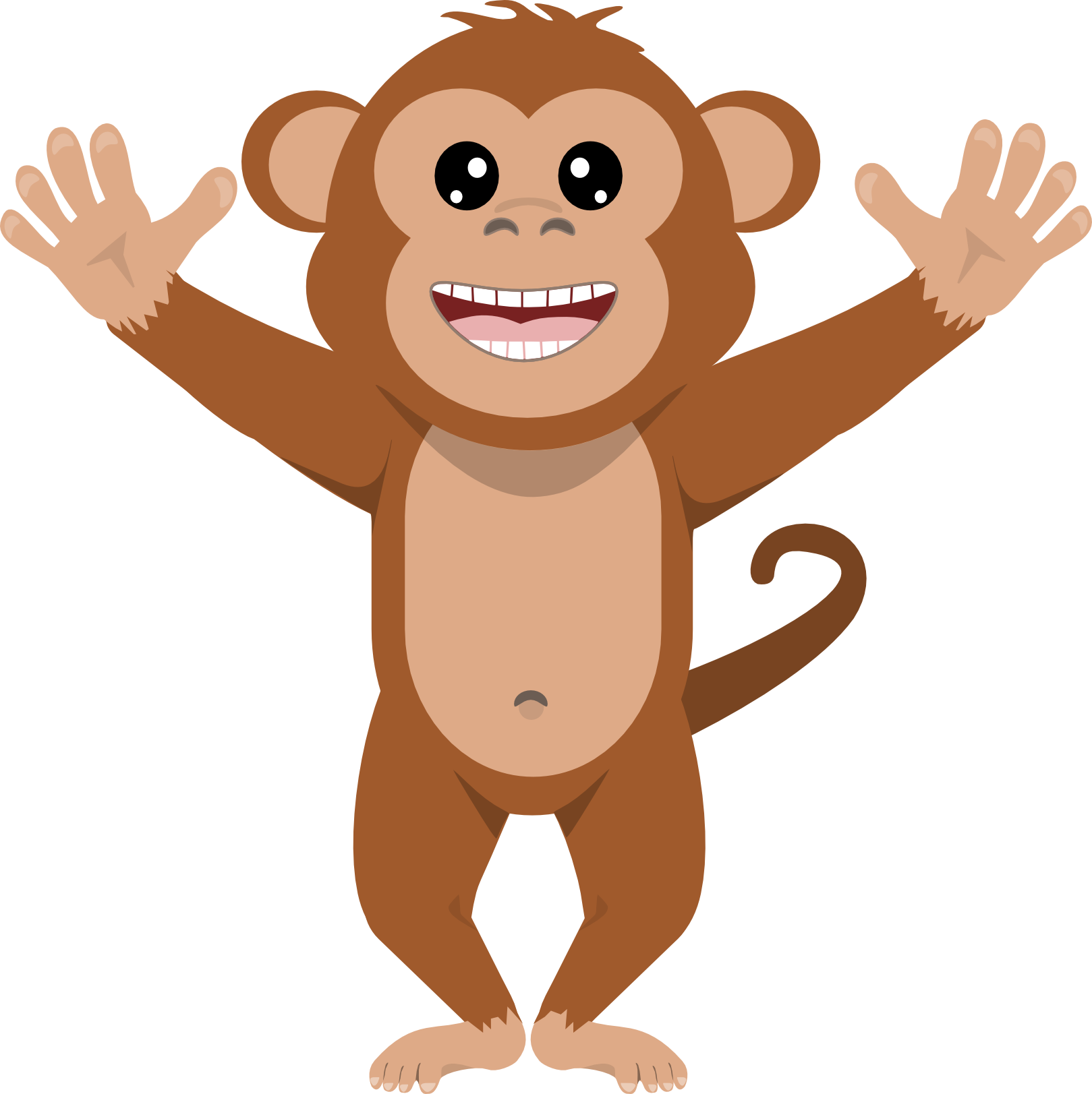 Animals clipart transparent background. Mixed clip art monkey
