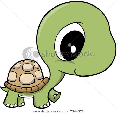 Animal clipart turtle. Cartoon stock vector baby