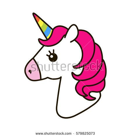 Vector icon isolated on. Animals clipart unicorn