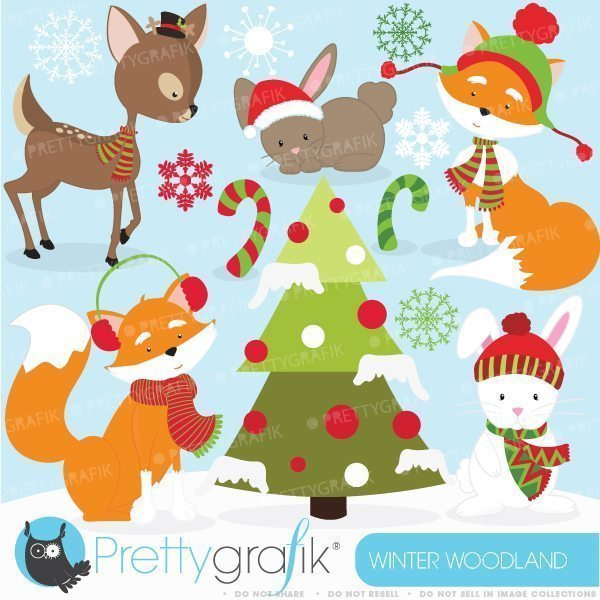 . Animals clipart winter
