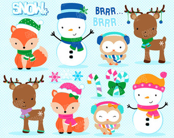 Animals clipart winter. Free cliparts download clip