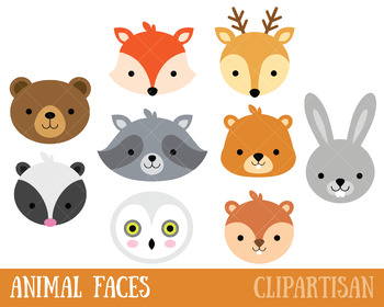 Animals clipart woodland. Clip art forest animal