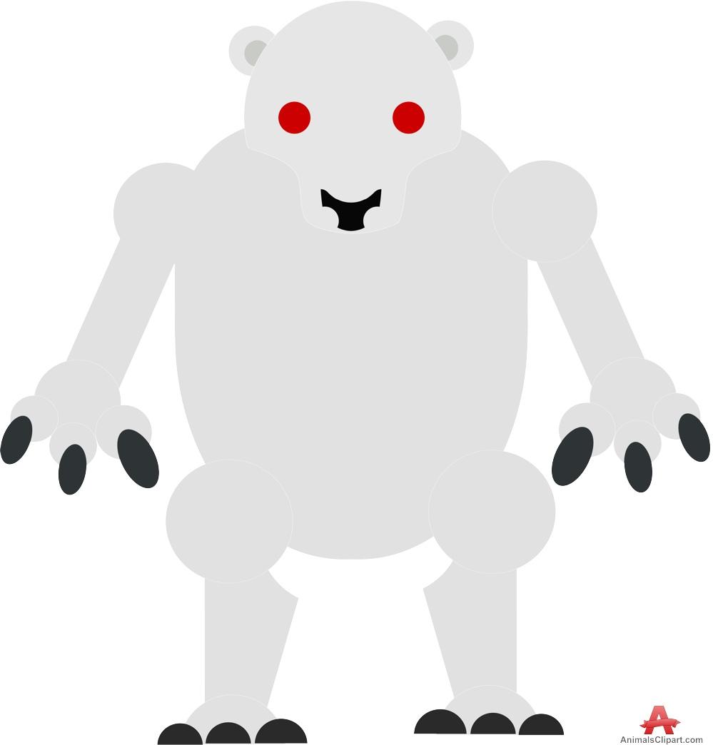 Bear free design download. Animals clipart alien