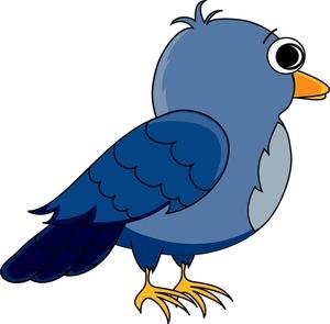Free cartoon clip art. Animals clipart bird