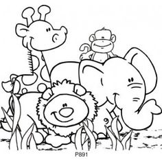 Animals clipart black and white.  collection of cute