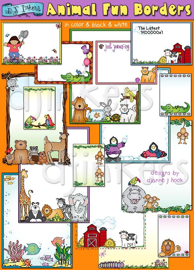 Animals clipart boarder. Animal clip art borders