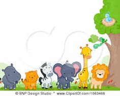 Zoo animals clipart border