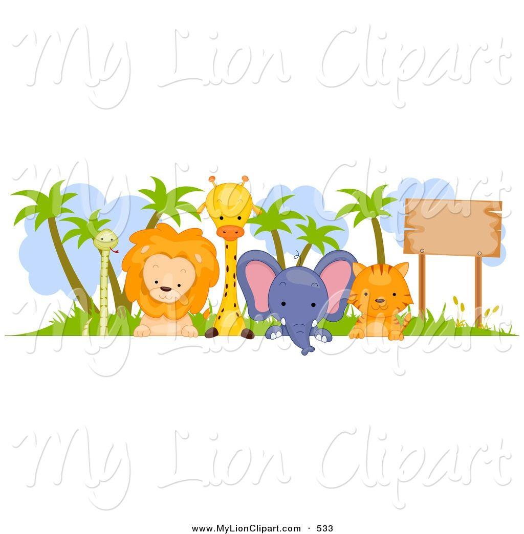 Zoo border safari pinterest. Animals clipart boarder