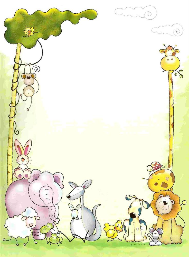 Animals clipart boarder. Zoo border best baby
