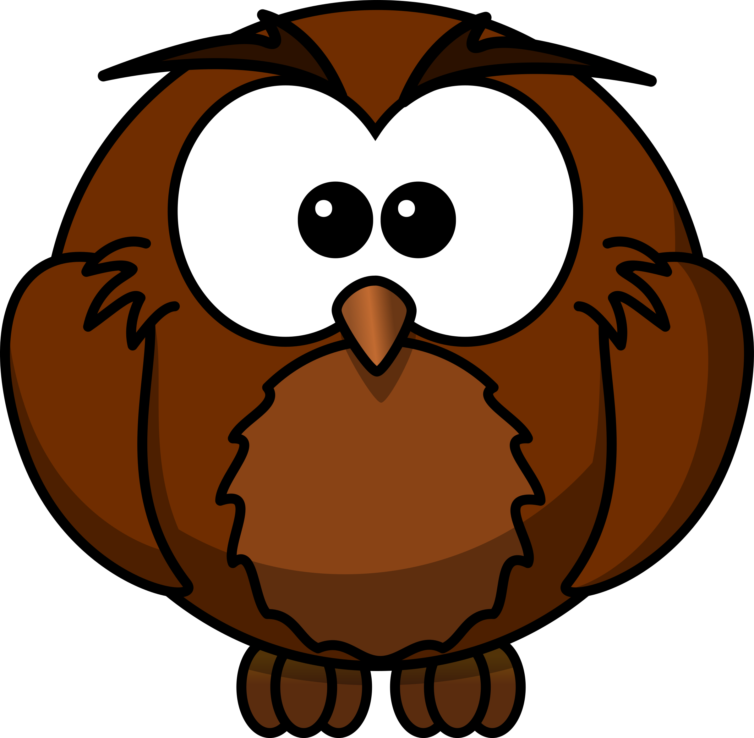 Wise cartoon owl who. Animals clipart borderline