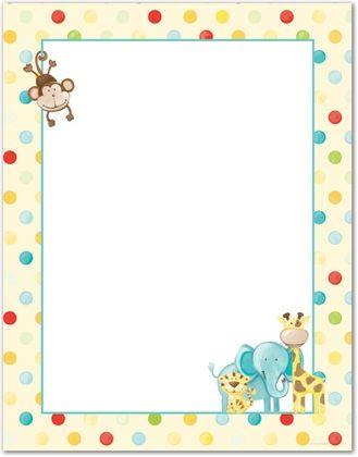 Animals clipart borders. Baby animal clipartsgram com