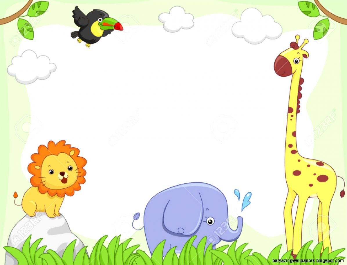 Animals clipart borders. Baby border clipartuse amazing