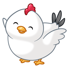 Animals clipart chicken. Happy chubby fluffs pinterest