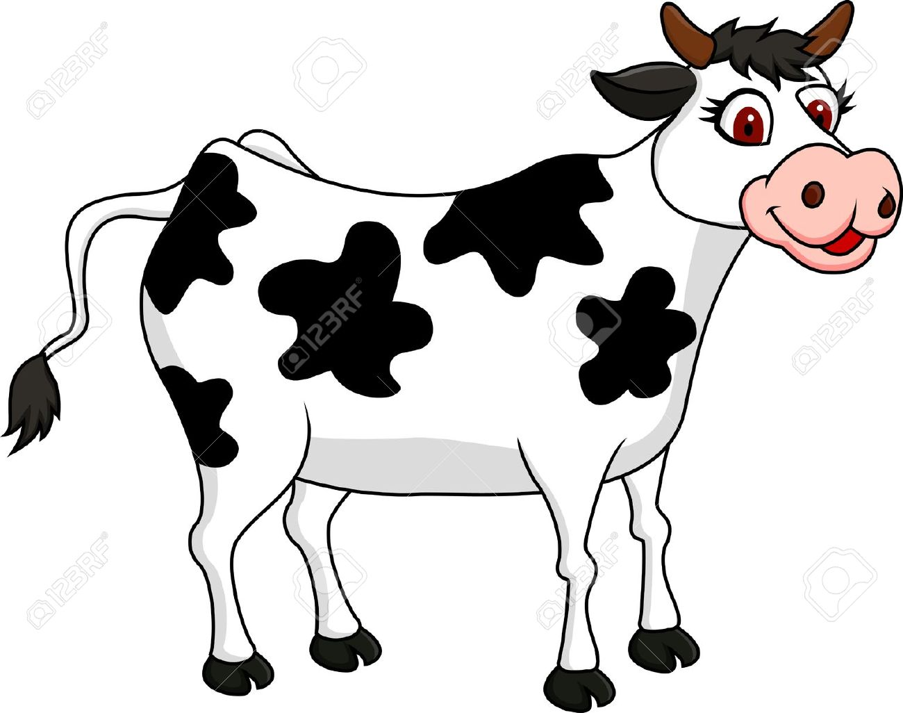 Animals clipart cow. Cattle funny pencil and