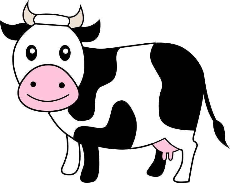 Cows cartoon image group. Animals clipart cow