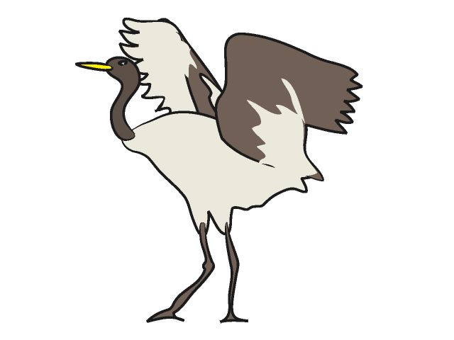 Clip art illustration free. Animals clipart crane