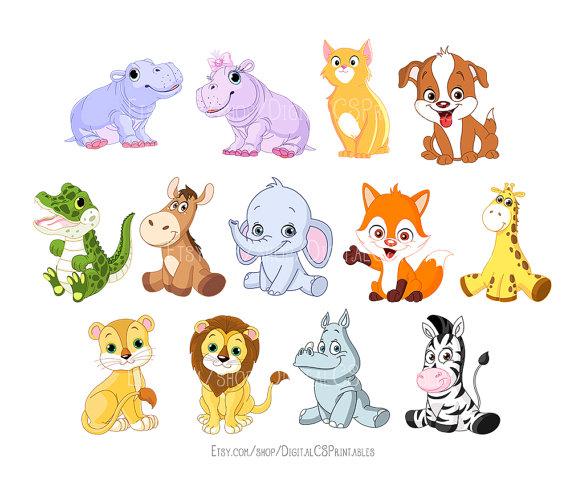 Animals clipart cute. Animal kids safari png