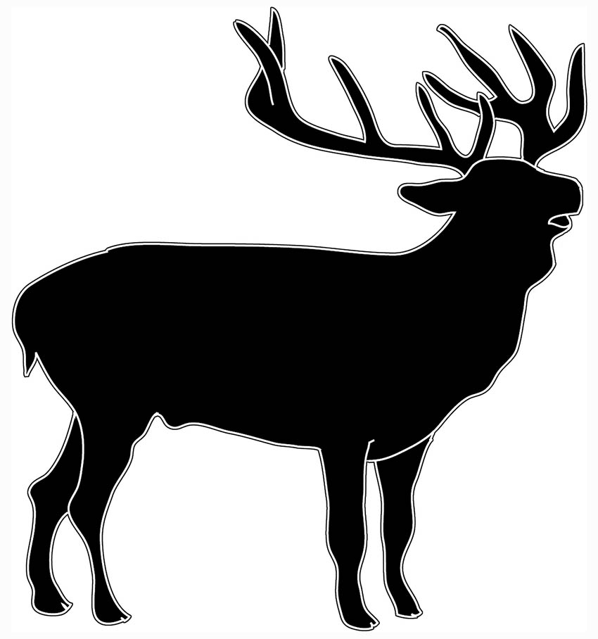 Animal silhouette clip art. Animals clipart deer