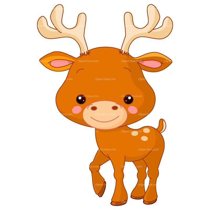 Alfa img showing baby. Animals clipart deer