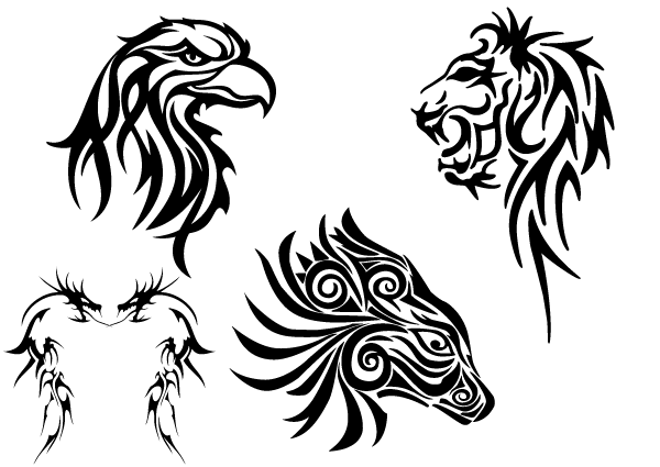 Animals clipart eagle. Free tribal clip art