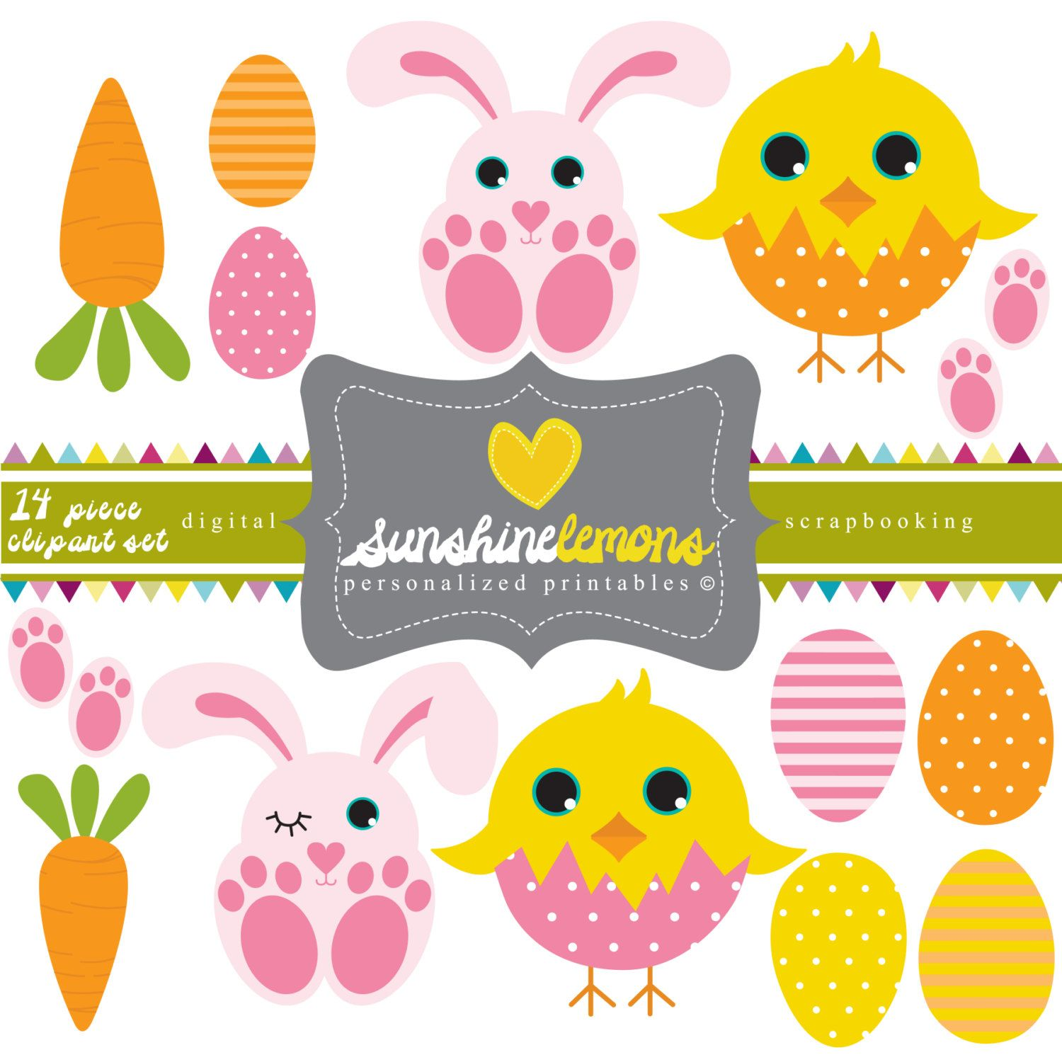 Clipartfest cute. Animals clipart easter