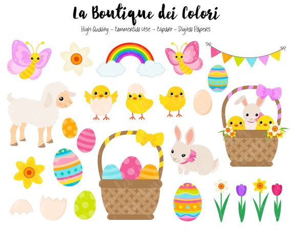 Animals clipart easter. Cute graphics png spring