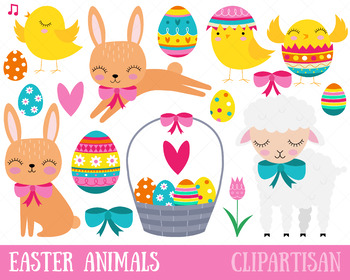 Animals clipart easter. Bunny by clipartisan tpt