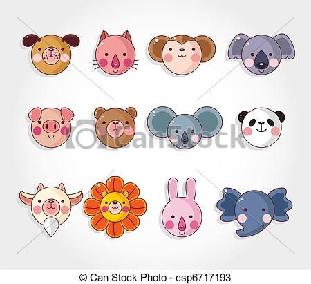 Animals clipart easy. Animal cheek art samples